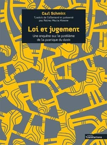 Carl Schmitt_Loi et jugement.jpg